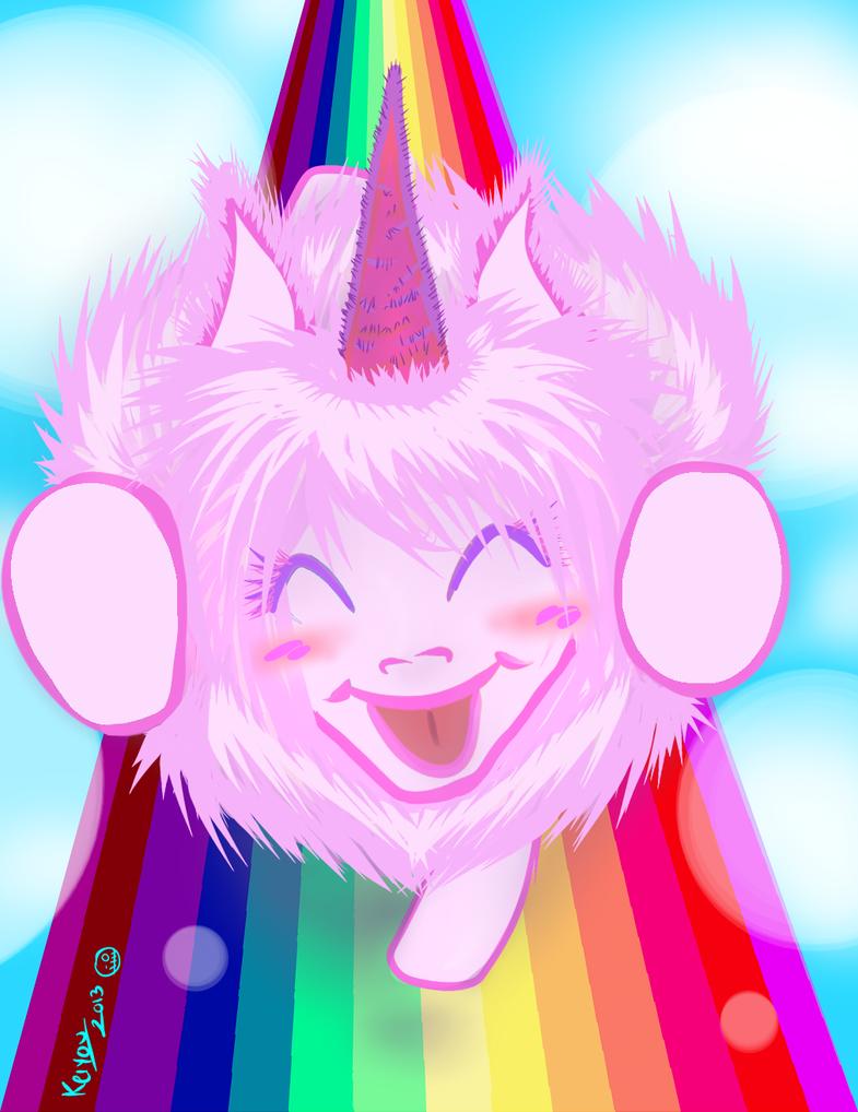 pink fluffy unicorn by mari keiyou on deviantart