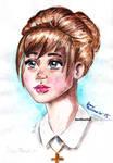 Kate Marsh watercolor portrait