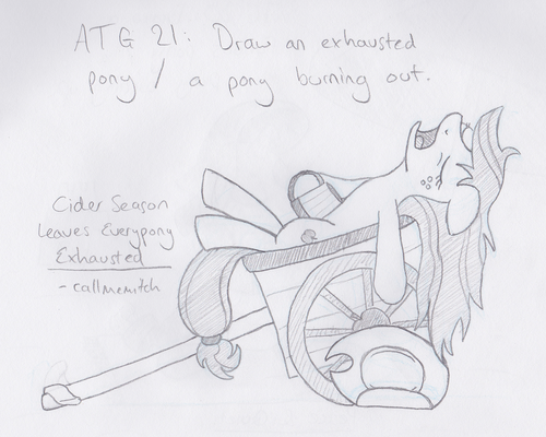 ATG21 - An exhausted pony / a pony burning out