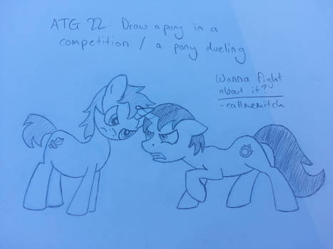 ATG22 - A pony in a competition / a pony dueling