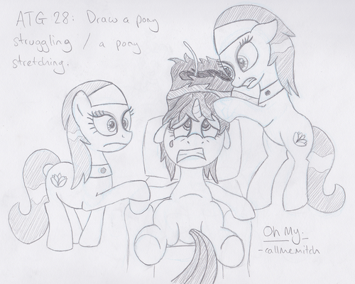 ATG28 - A pony struggling / a pony stretching