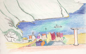 Italy Seaside Town by DubiousLogik