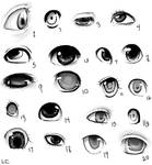 20 manga eye reference doodles
