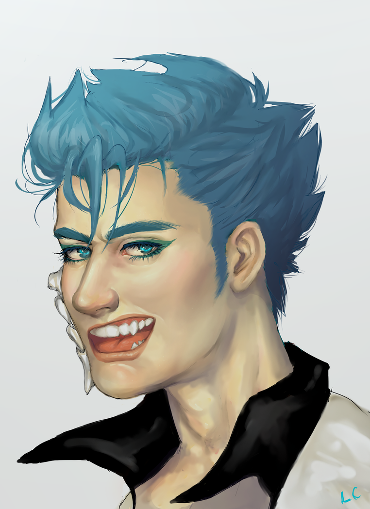 Bust Request - Grimmjow by Loves-Chihuahuas