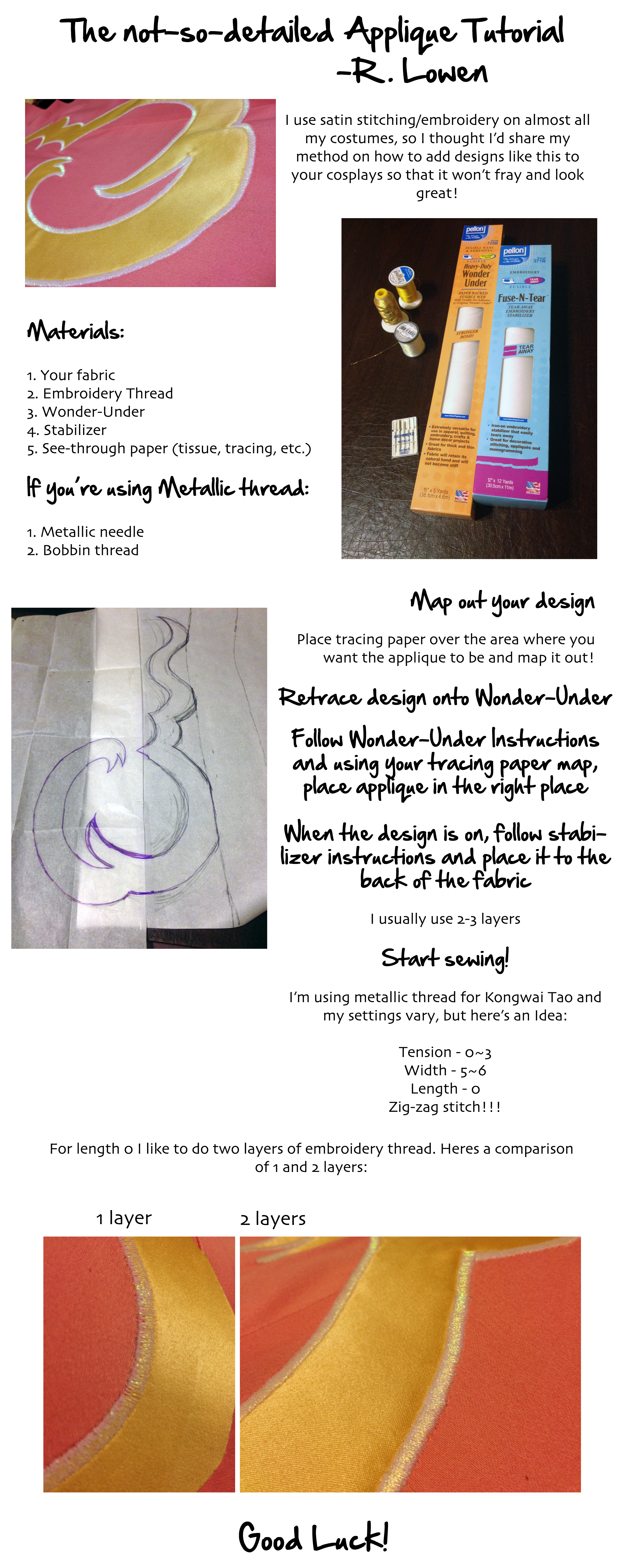The Quick and not-so-detailed Applique Tutorial