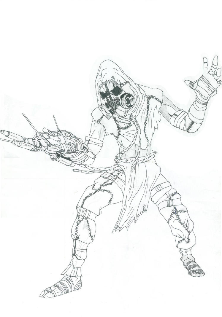 Scarecrow From Batman Coloring