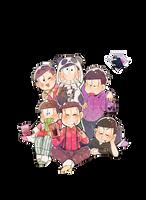 Osomatsu-san render by Aventureraytributo by Aventureraytributo