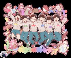 Osomatsu-san! render by Aventureraytributo by Aventureraytributo