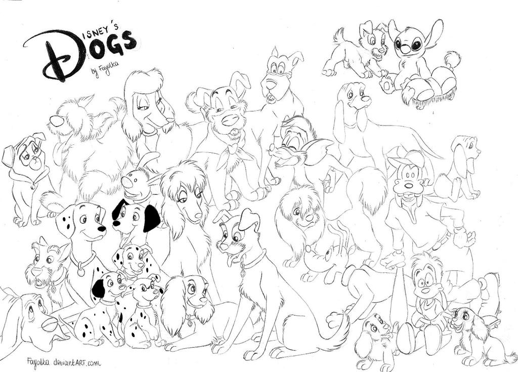 disney dog coloring pages - rita oliver and company coloring pages coloring pages