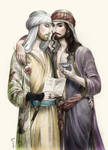 Ibn Waliba with Abu Nuwas