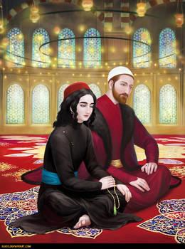 Fatih and Radu in the Mosque
