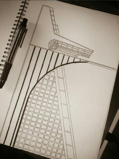 Avengers Tower Sketch By Ashattack42 On DeviantArt