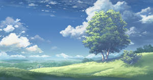 Hill upon Valinfor by Kyomu