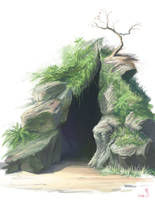 Speed Paint - Cave by Kyomu