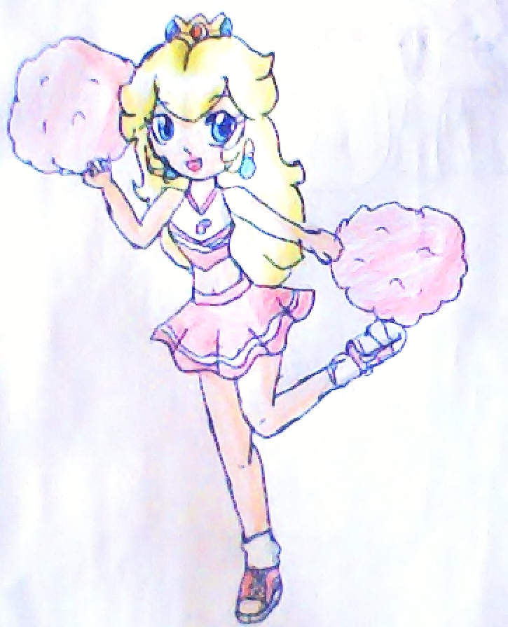 cheerleader peach by babyblisblink