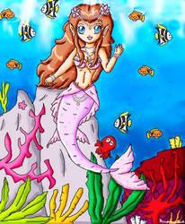 mermaid zelda by ninpeachlover