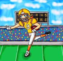 American football daisy by ninpeachlover