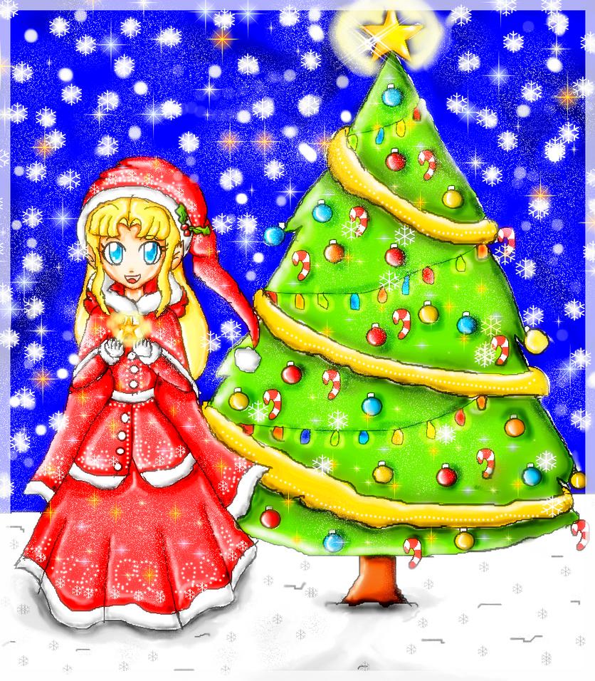 zelda christmas by ninpeachlover on DeviantArt