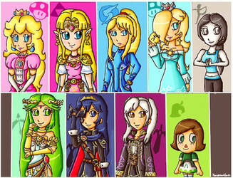 smash girls wii u and 3ds-complete version by ninpeachlover