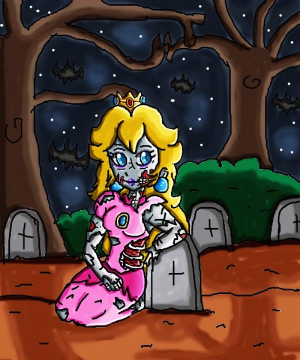 zombie peach by babyblisblink