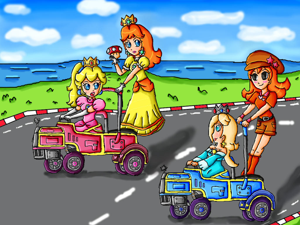 Rosalina And Mona In Mario Kart Double Dash By Ninpeachlover On