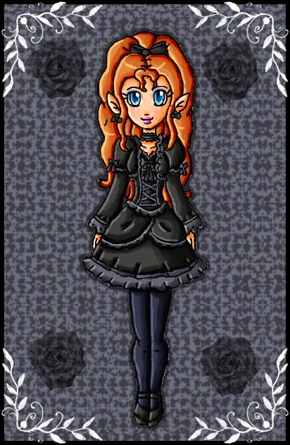 gothic zelda by babyblisblink