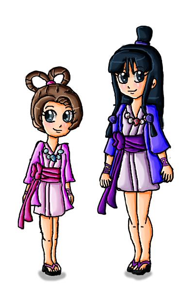 Maya Fey and Pearl Fey by ninpeachlover