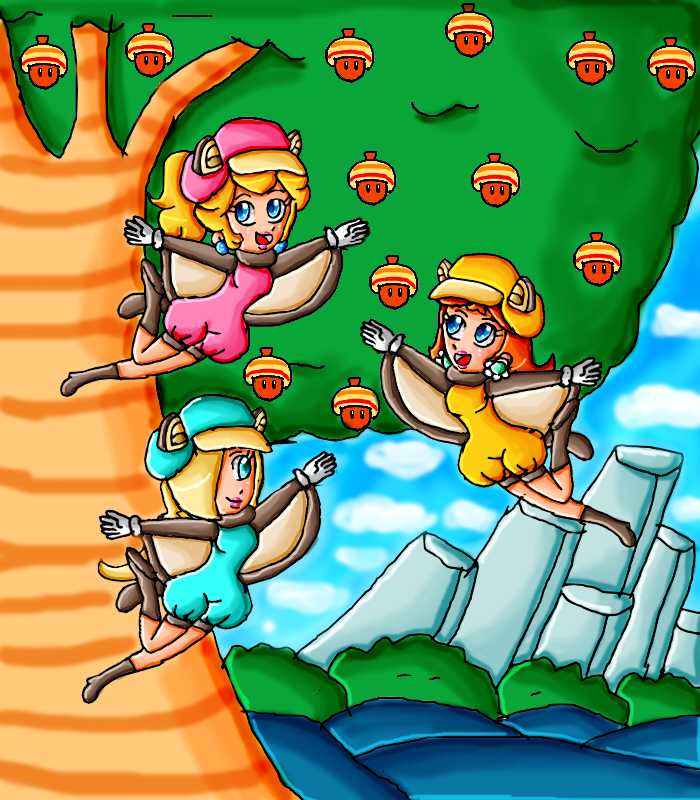 flying-squirrel princesses by ninpeachlover