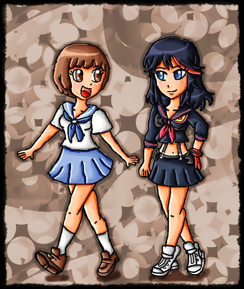 ryuko and mako by ninpeachlover