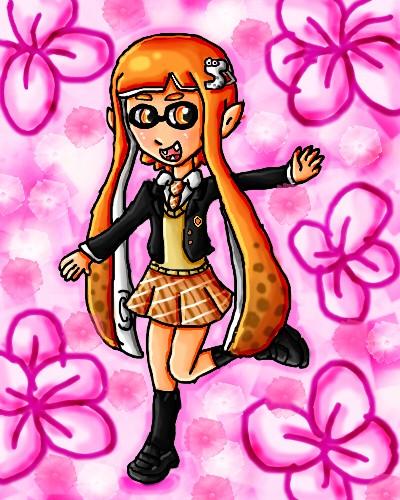 school girl inkling by ninpeachlover