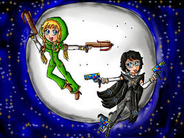 Umbra Witch Linkle and Bayonetta