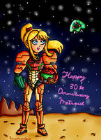 happy 30th metroid by ninpeachlover