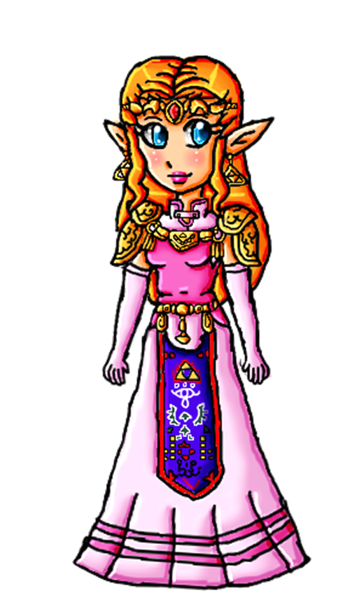 OoT Zelda by ninpeachlover