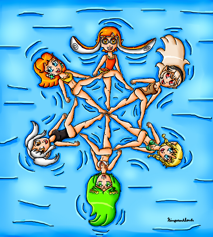nintendo girls synchronized swimming part 2 by ninpeachlover