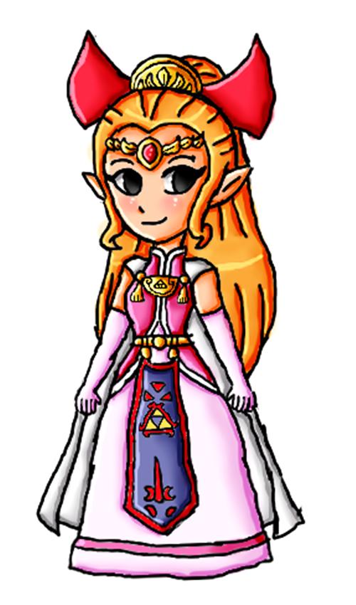 Four Swords Zelda by ninpeachlover