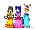 Star fox girls dressed as mario girls