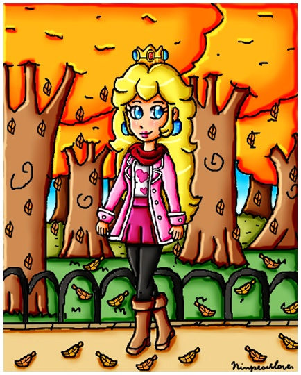 autumn stroll by ninpeachlover