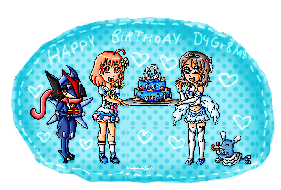 Happy birthday D4Gr8M8 by ninpeachlover