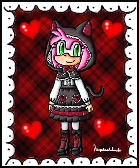 Black cat lolita Amy by ninpeachlover