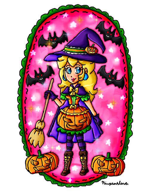 Pumpkin witch Peach by ninpeachlover