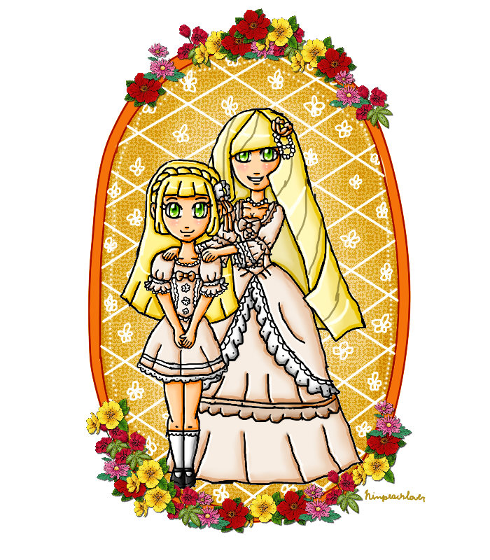 fancy mother and daughter by ninpeachlover