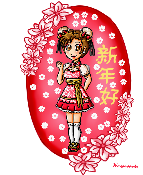 happy chinese new year from chun-li by ninpeachlover