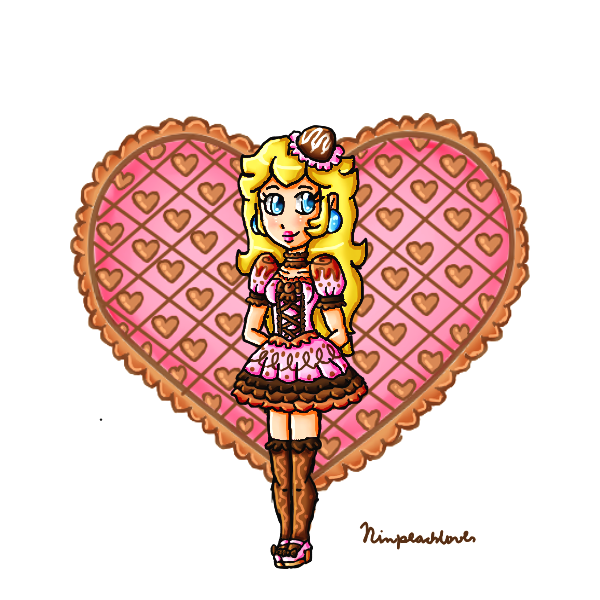 Chocolate with peach for valentine by ninpeachlover