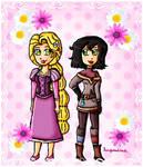 Rapunzel and Cassandra