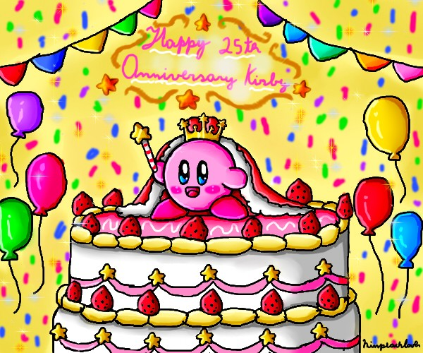 Happy 25th Anniversary Kirby by ninpeachlover