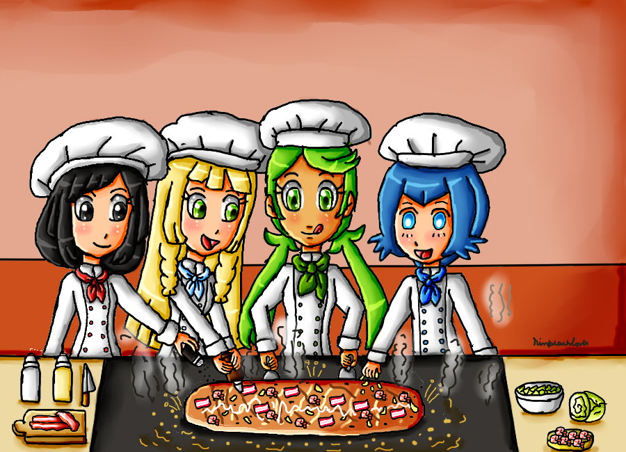 Cooking with chef Mallow by ninpeachlover