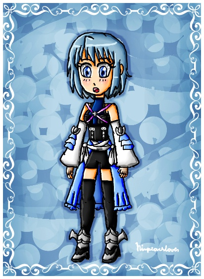 Sayaka as Aqua by ninpeachlover