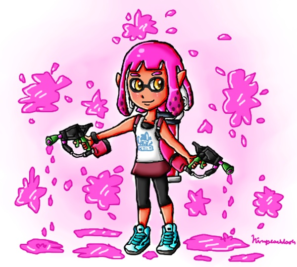 Pink Ink by ninpeachlover