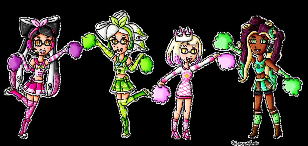 The Splatoon Cheerleaders by ninpeachlover