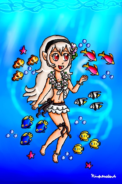 Swimming with the fishes by ninpeachlover